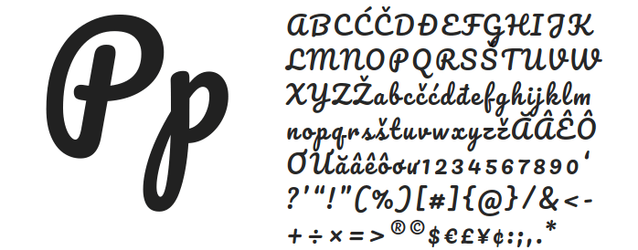 Free fonts Manteka