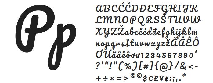 Free fonts Manteka