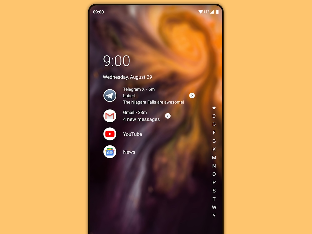 best android launchers: niagara launcher