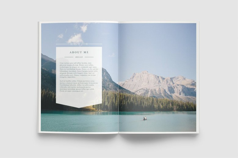 Best brochure templates: Wanderers photography