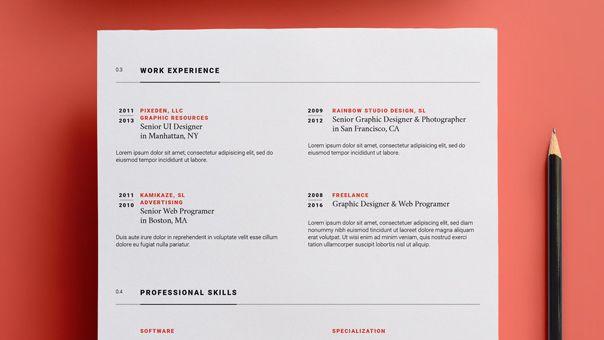 creative resume templates adobe