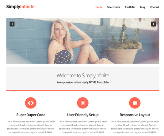 Portfolio WordPress theme - SimplyInfinite