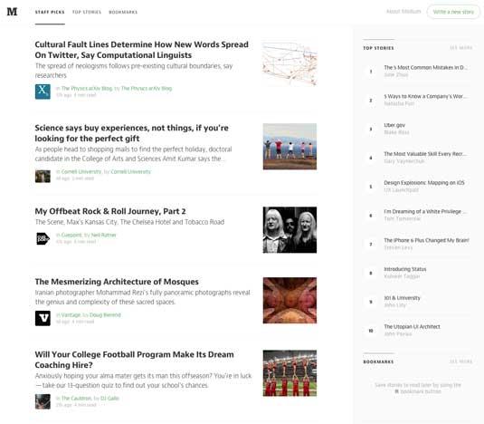 Best blogging platforms: Medium