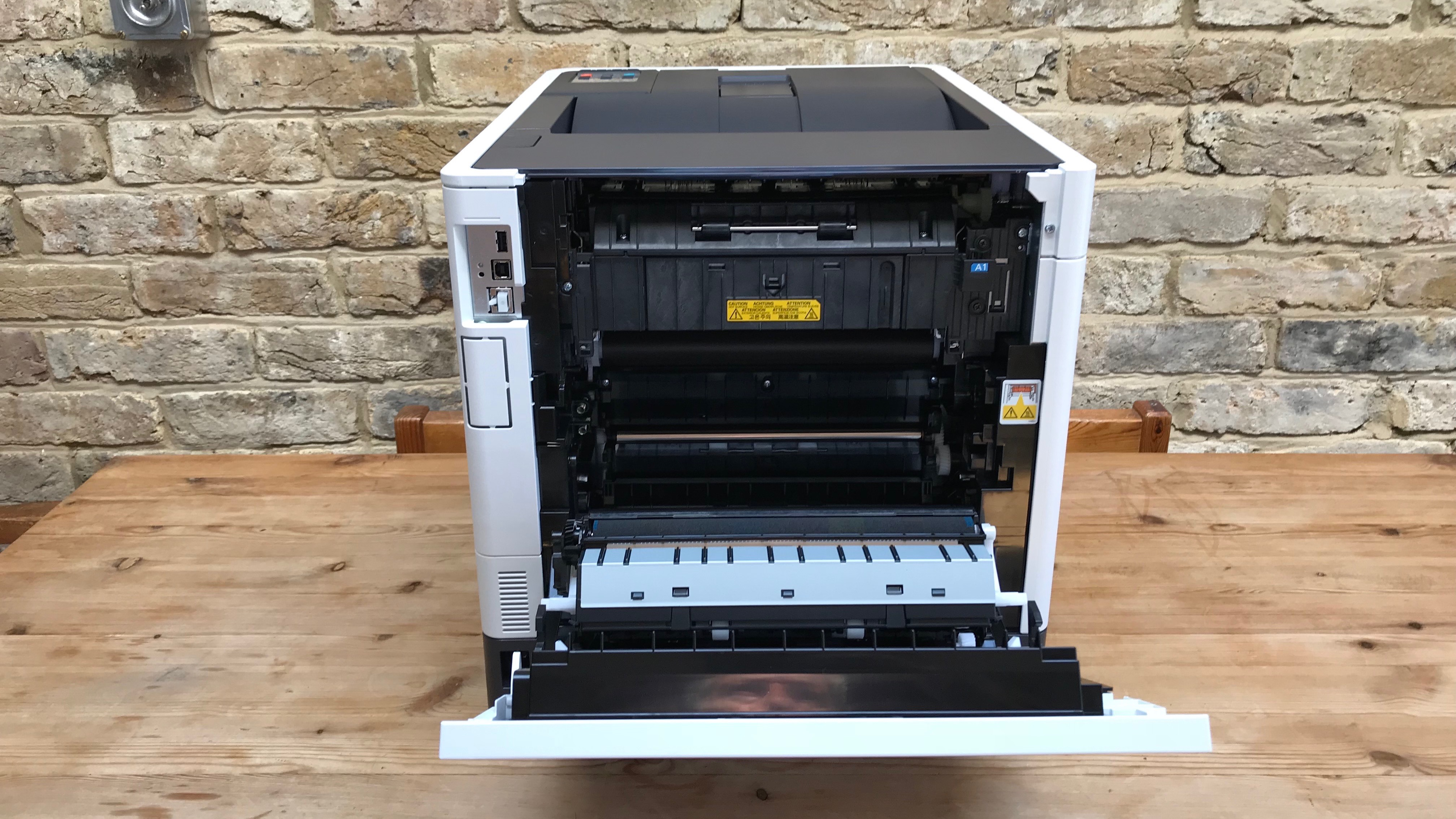 Printer with front flap open