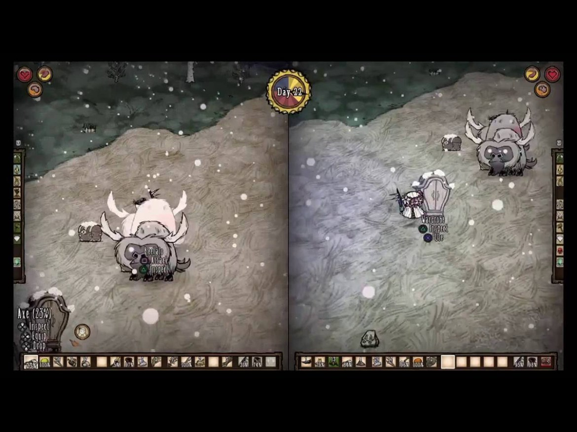 The best split screen PS4 games: don't starve together