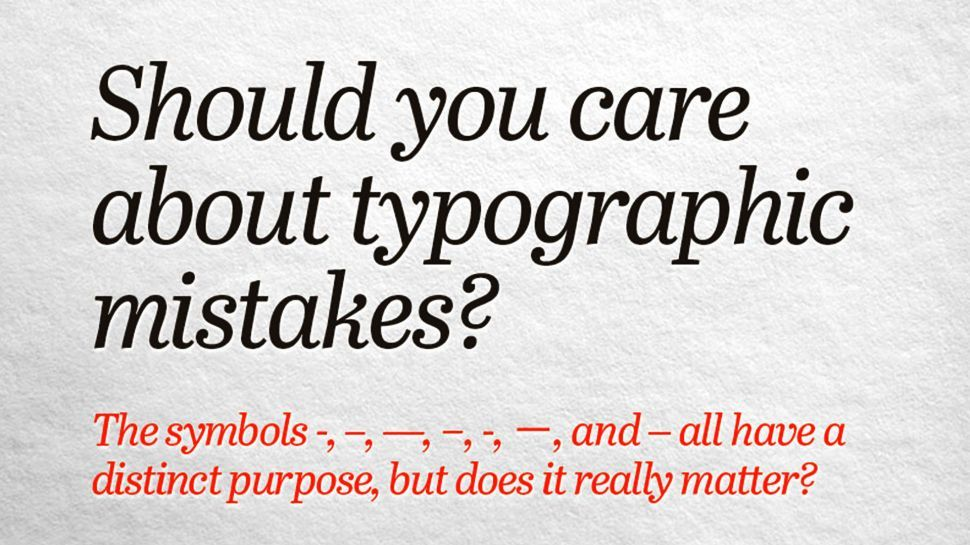 Should designers care about typographic mistakes?
