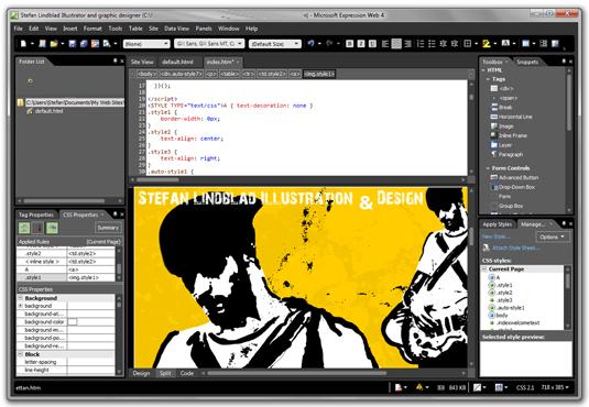 Microsoft Expression Web 4 - free graphic design software
