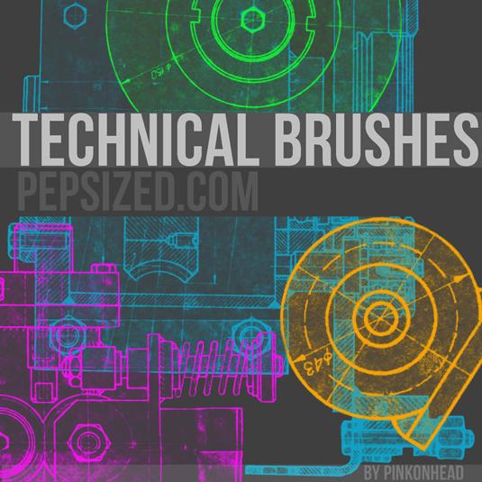 free Photoshop brushes: technical