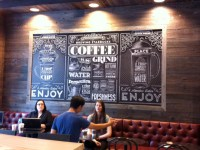 Vintage-style typography mural for Starbucks | Creative Bloq
