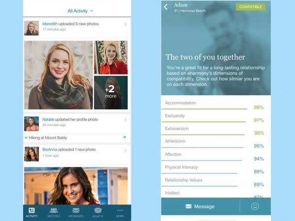 best dating apps: eharmony