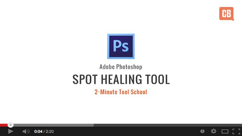 How to use the Spot Healing Brush Tool in Photoshop
