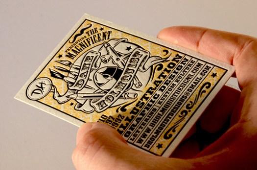 Letterpress business cards:  Dane Holmquist