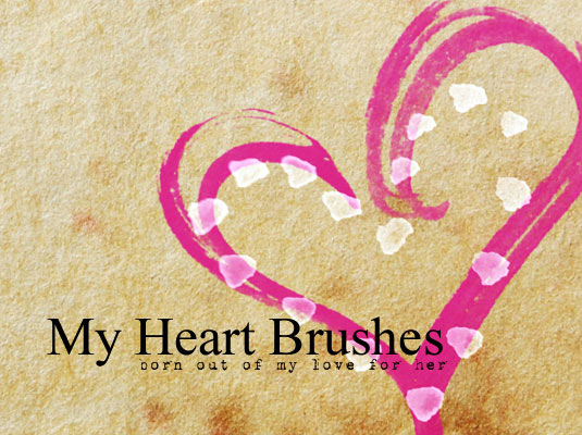 free Photoshop brushes: heart
