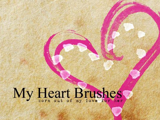 free Photoshop brushes: heart