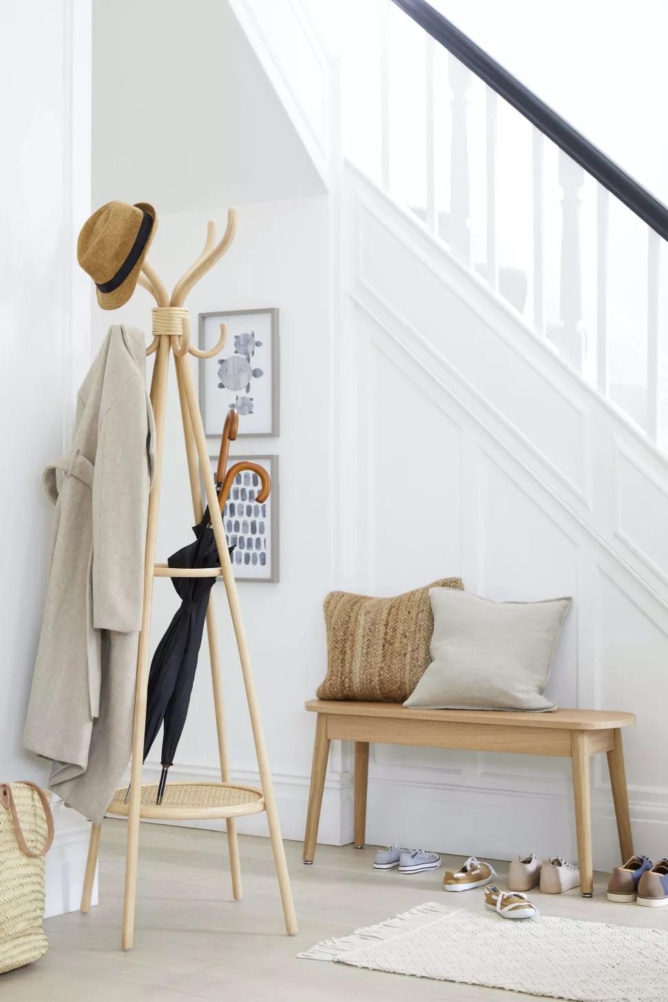 a small hallway idea using freestanding furniture