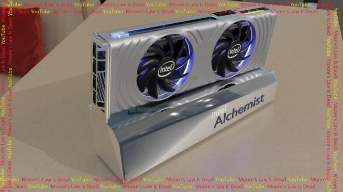 Intel Alchemist graphics card mockup
