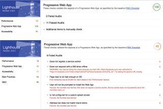 Progressive web apps: Lighthouse