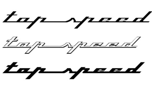 Retro fonts: Top Speed