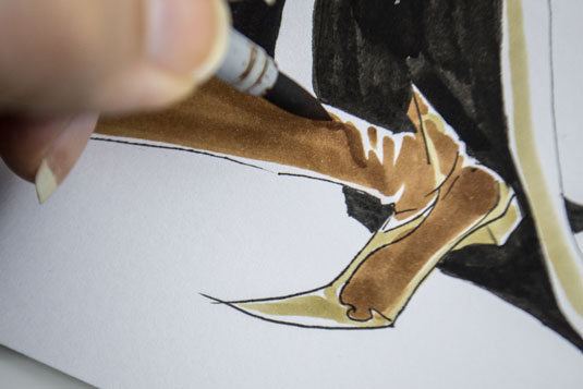 how to draw manga - leather boots
