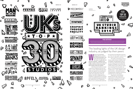 Discover the UK's top 30 studios in the latest issue of