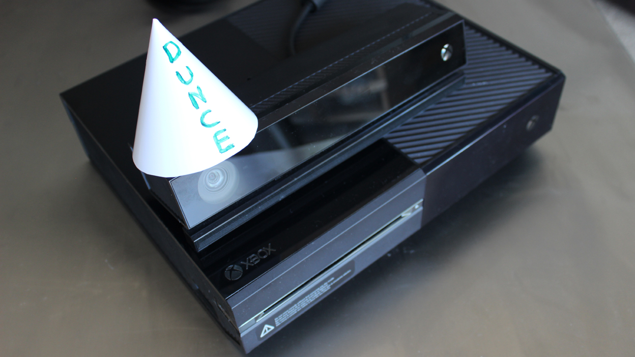 Kinect was good on paper, now it just wears a paper dunce cap