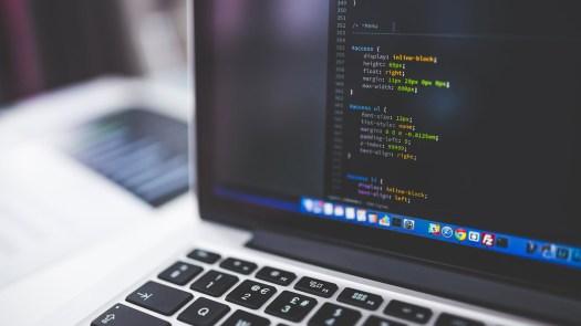 best code editors: laptop screen