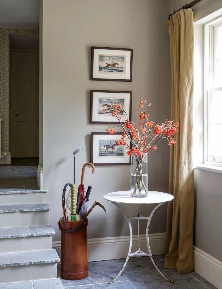 Hallway - decorating with grey