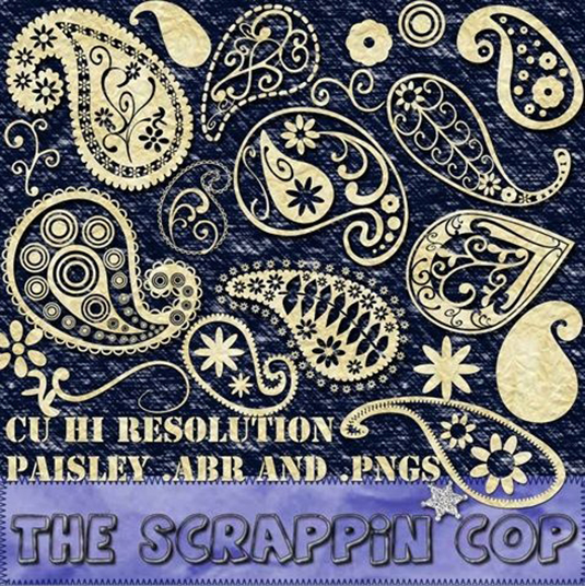 free Photoshop brushes: paisley