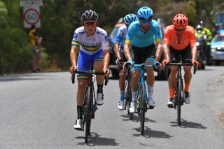Sam Jenner in the breakaway at the Tour Down Under