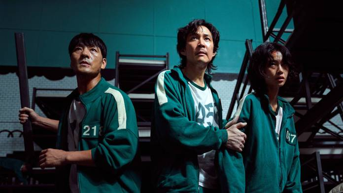 Park Hae-soo, Lee Jung-jae, and Jung Ho-yeon star in Squid Game
