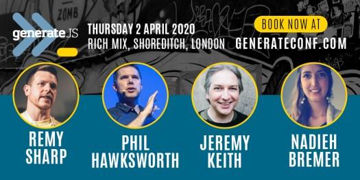 GenerateJS 2020 - 4 speakers