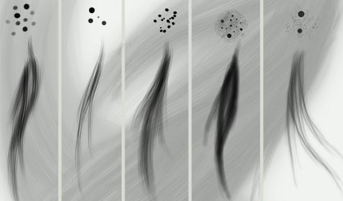 Hair brush set of Photoshop brushes