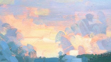 painting simple skies creative