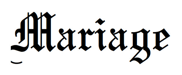 Old English fonts: Mariage