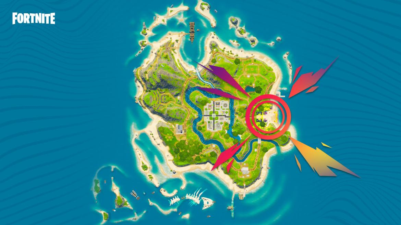 Fortnite Kaskade event map