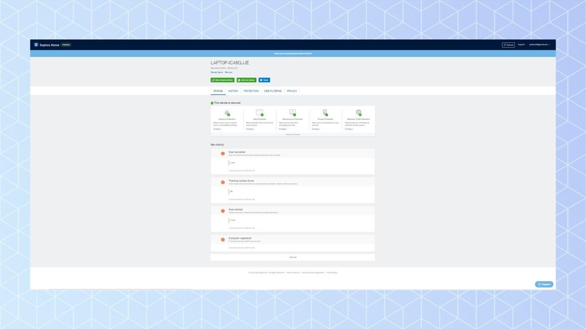 Sophos 2021 antivirus review