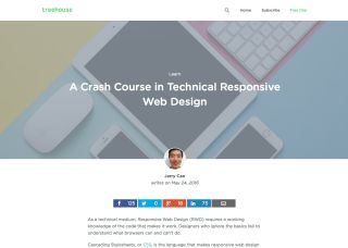 A crash course in technical responsive web design screenshot