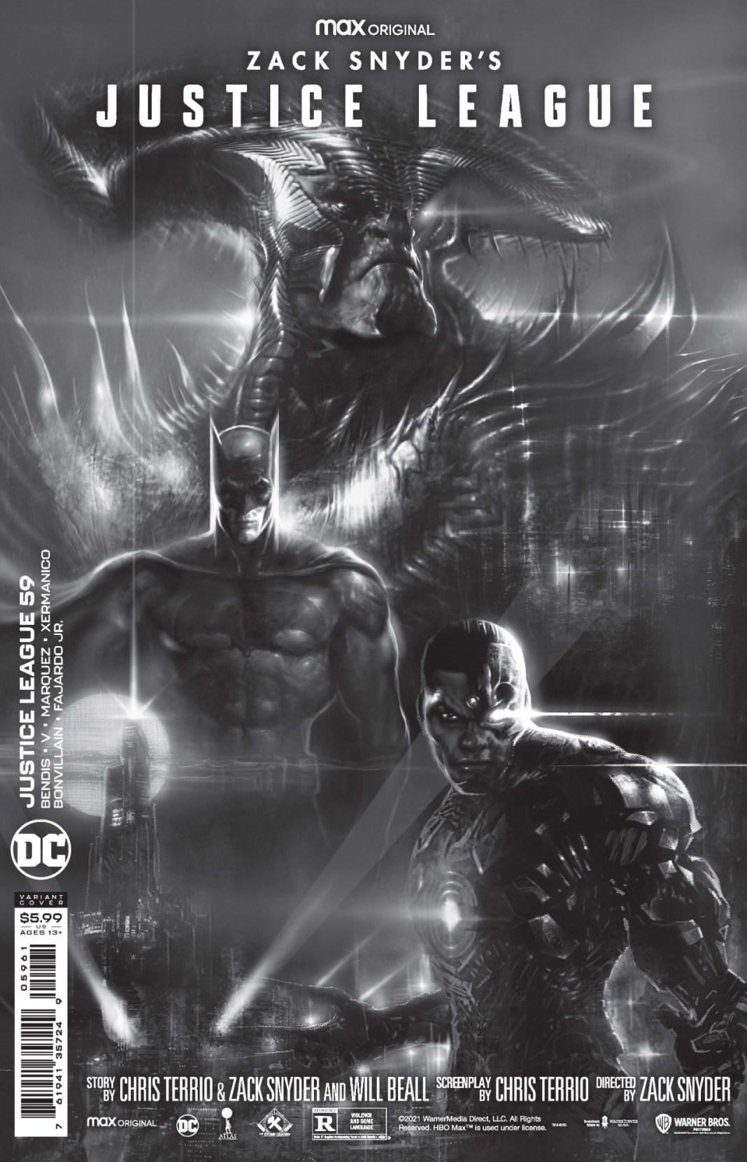 Capas de variantes da Liga da Justiça de Zack Snyder