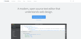 best code editors: Brackets code editor