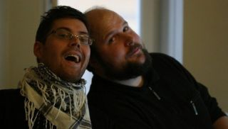 Jakob Porser (left) and Markus Persson, in 2010