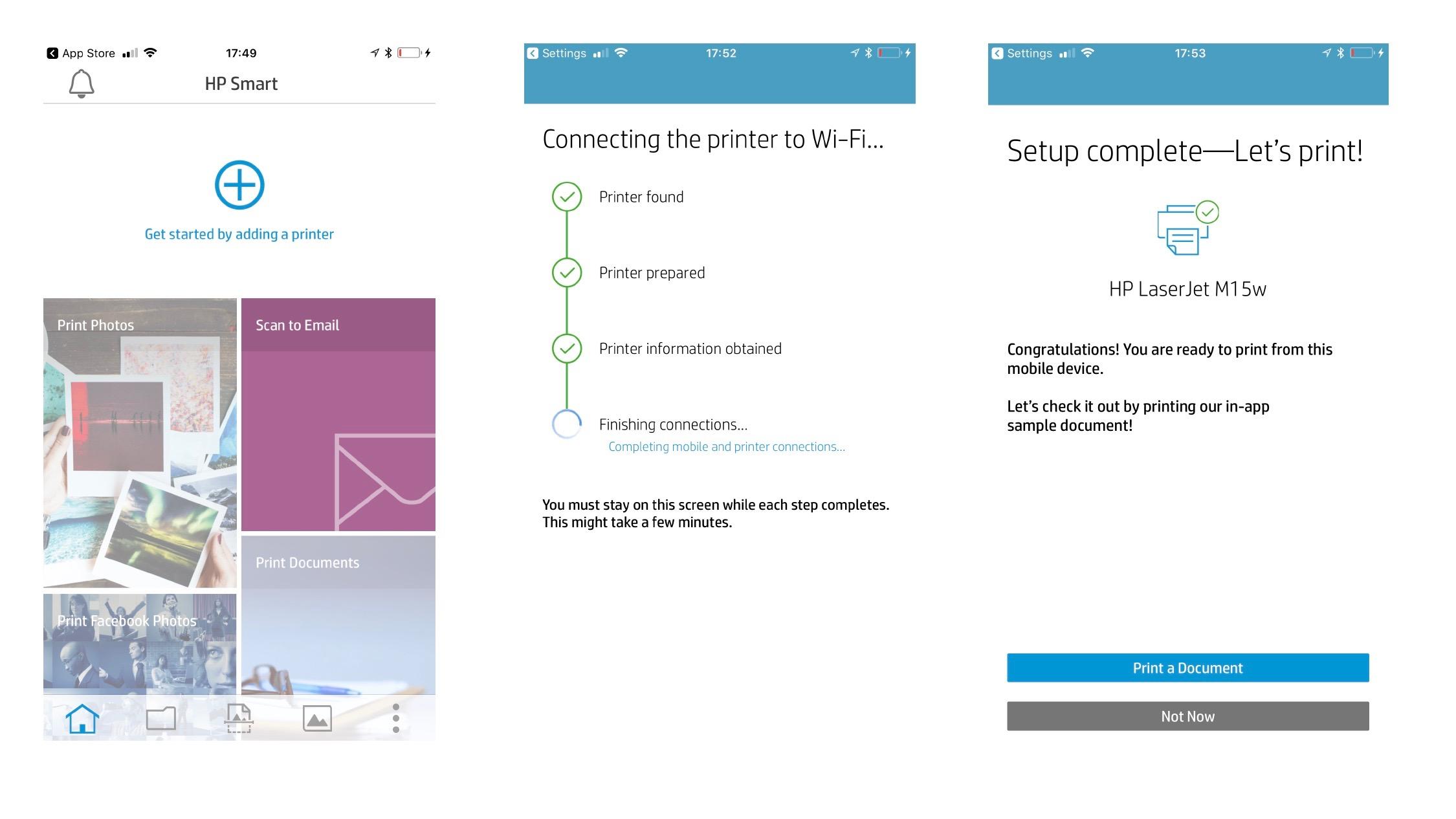 HP LaserJet Pro M15w app