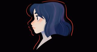 portrait of a girl: character design