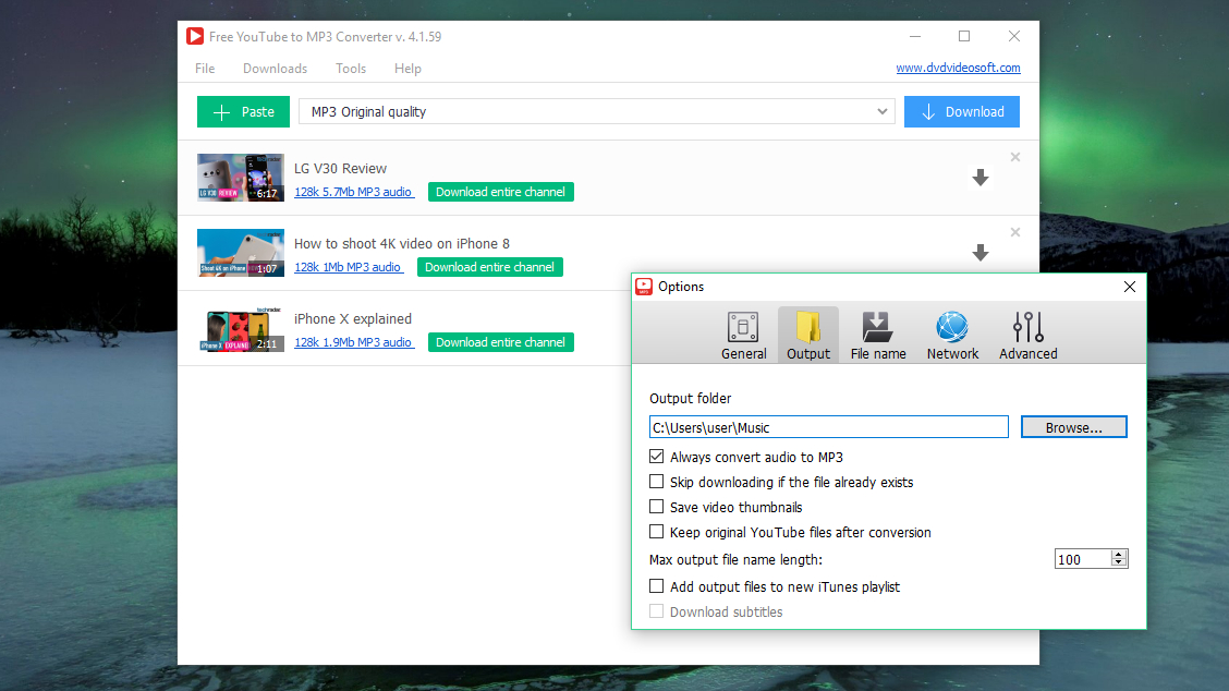 Free YouTube to MP3 Converter screen grab