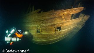 Volunteer divers from the nonprofit Badewanne team discovered this Dutch fluit ship in the Gulf of Finland in the Baltic Sea.