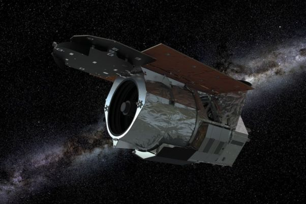 An artist's depiction of NASA's Wide Field Infrared Survey Telescope. The space telescope one of several missions again on the budget chopping block for Trump administration's FY2021 budget proposal.