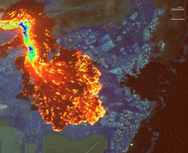 In Hawaii' Kilauea Volcano Eruption Space