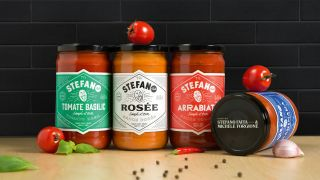 Stefano's Sauces design packaging