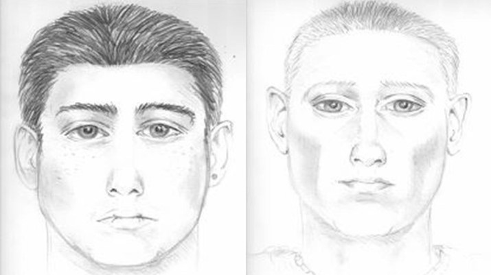 police sketch of two suspects