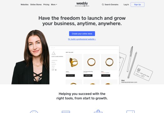 Choose a website builder: Weebly