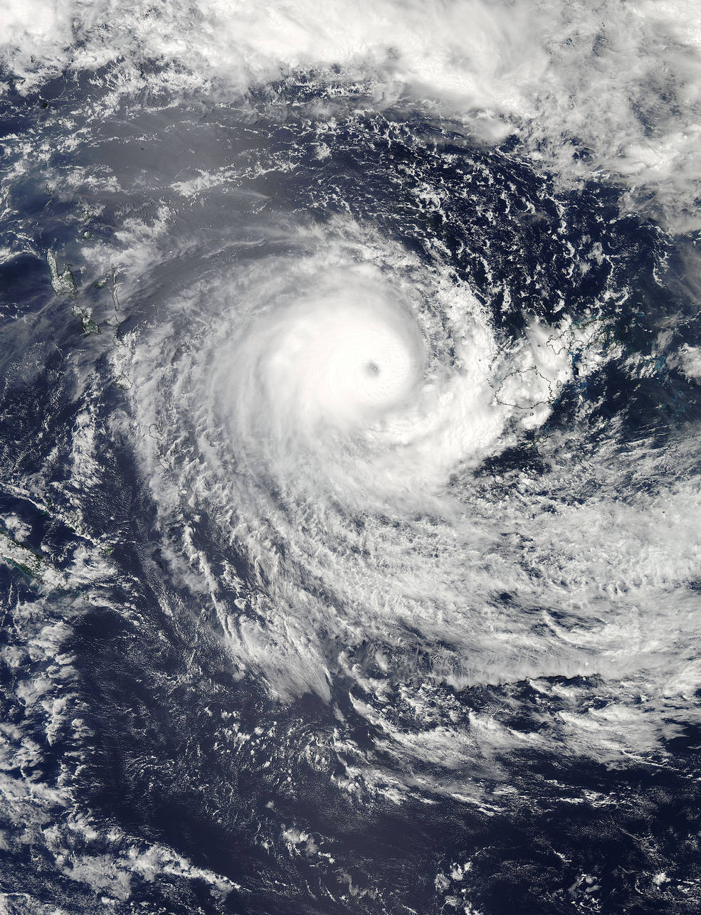 hight resolution of monster cyclone winston seen from space photos